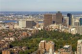 picture of prudential center  - View of Boston Common  - JPG