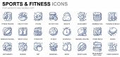 Simple Set Sport And Fitness Line Icons For Website And Mobile Apps. Contains Such Icons As Fit Body poster