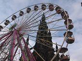 Ferris Wheeel And Monument poster