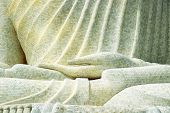Details Of The Marble Mosaic Of Hand From A Large Buddha Statue On The Hilltop In Phuket, Thailand,  poster