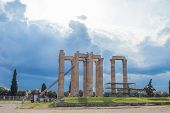 The Temple Of Olympian Zeus Also Known As The Olympieion Or Columns Of The Olympian Zeus, Is A Forme poster