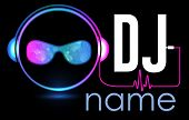 Dj Logo Design. Creative Vector Logo Design With Headphones And Dj With Glasses. Music Logotype Temp poster