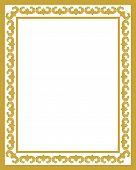 Golden Ornament Pattern Frame, Border Ornament Pattern Frame, Engraving Ornament Pattern Frame, Orna poster