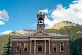 Silverton City Hall In Colorado, United States, The Town Hall Of An Old West Mining Town In The Rock poster