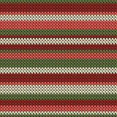 Modern Horizontal Stripes Knitting Texture Geometric Seamless Pattern. Rug Knitwear Fabric Print. Fa poster