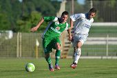 KAPOSVAR, HUNGARY - JUNE 16: Krisztian Garai (in white) in action at the Hungarian National Champion