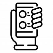 Smartphone Feedback Icon. Outline Smartphone Feedback Vector Icon For Web Design Isolated On White B poster