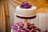 Wedding Cake On A Stand. Wedding Preparations. Wedding Attributes poster