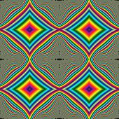 Shocking Bright Colorful Rainbow Square Iridescent Wave Design. Spectrum Of Colors. 3d Illustration poster