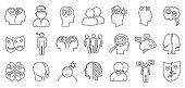 Bipolar Disorder Disease Icons Set. Outline Set Of Bipolar Disorder Disease Vector Icons For Web Des poster