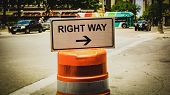 Street Sign The Direction Way To Right Way poster