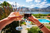 Okanagan Valley Wine Tasting Tour, Wineries Visit During Summer And Spring Vacations Concept, Man An poster