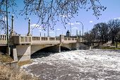 Spring Flood Of Wascana Creek Under  The Albert Memorial Bridge (regina, Saskatchewan) poster