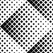 Abstract Square Pattern Background - Monochrome Vector Graphic Design From Diagonal Squares poster