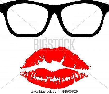 Nerd Glasses and Kiss