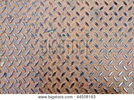 Old Steel Floor For Background
