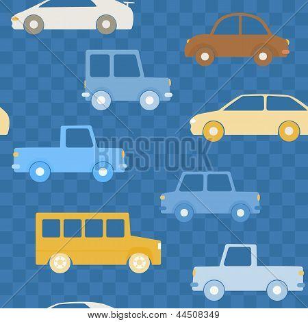 Patrones de colorido coches sin fisuras