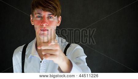 Uk, England Needs You Union Jack United Kingdom Flag On Face Man