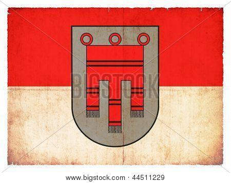 Grunge Flag Of Vorarlberg (austria)