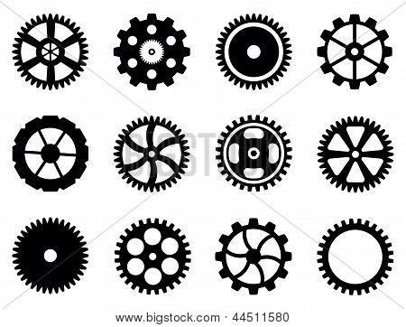Cogwheels (gear Wheels) Of Different Design.