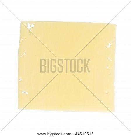 Square Slice Of Edam Cheese
