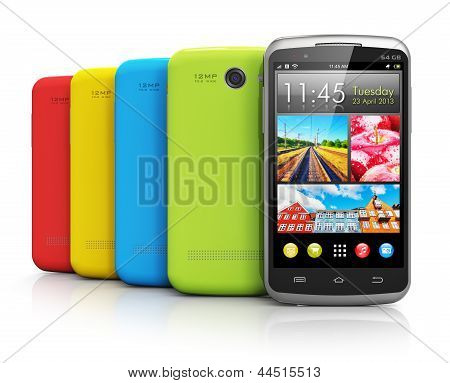 Modern color smartphones