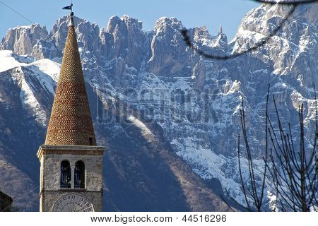 old belfry of alpine church