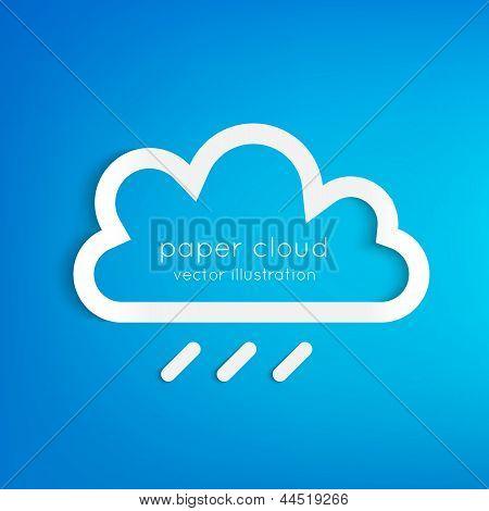Paper rainy cloud