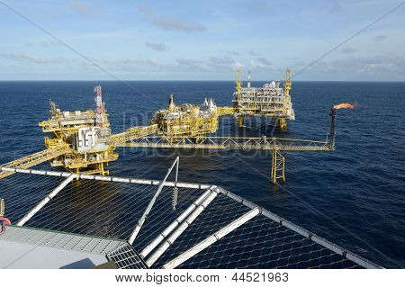 The Offshore Oil Rig And Gas Flare
