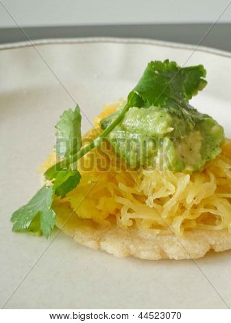 Vegetable tostada