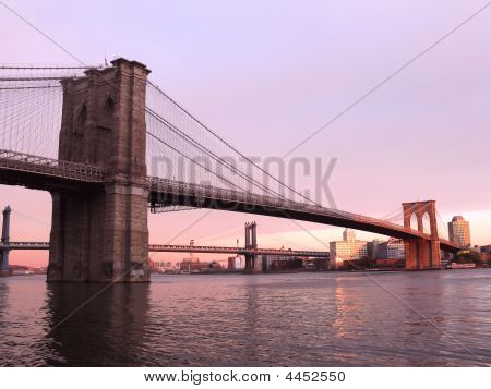 Brooklyn Bridge, Sunset