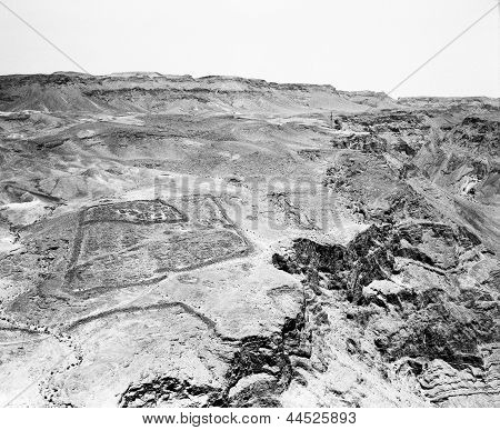 Roman Encampment At Masada