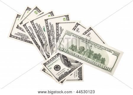 Background With Money American Dollars