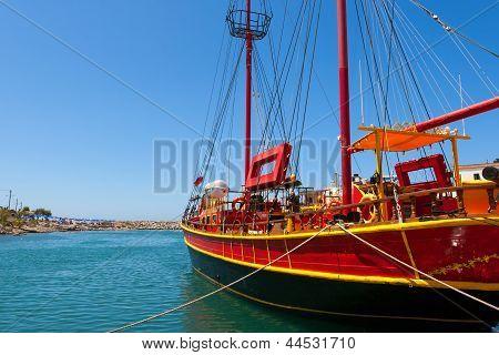 Sailing Ship.  Sissi, Crete, Greece