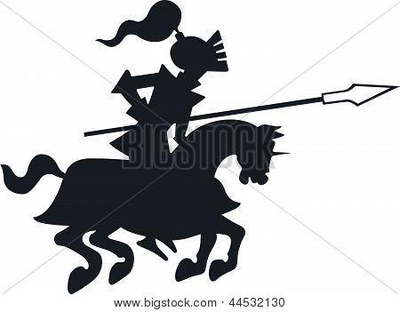 Knight horseriding
