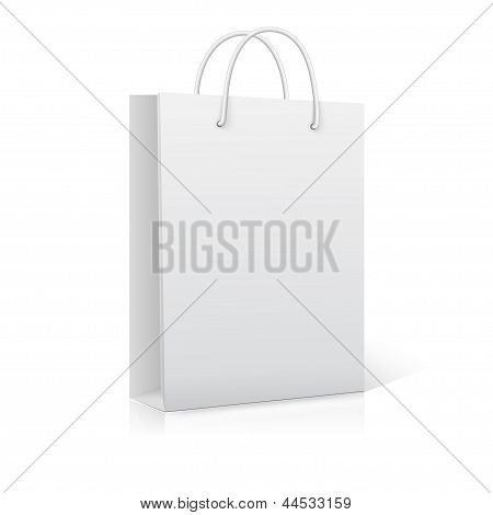 Empty Shopping Bag on white. Ready for your design.