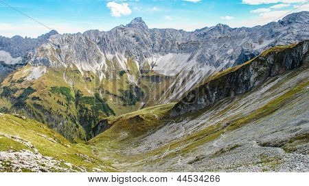 Impressive Valley Close To Oberstdorf