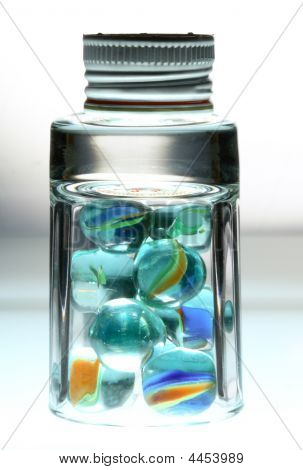 Glass With Balls And White Cover