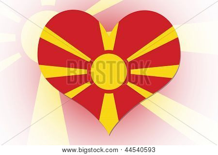 Macedonian Flag Heart