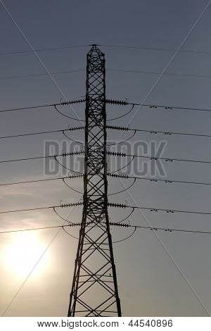 The High Voltage Power Pylons.
