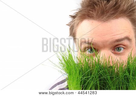Man In The Spring Grass