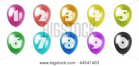 Balloons With Figures Set