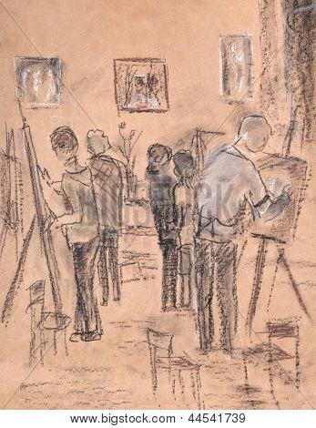 In Art Studio