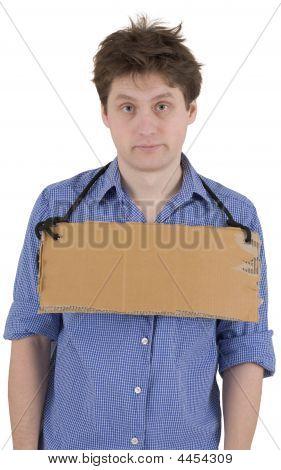 Man With Carton Tablet