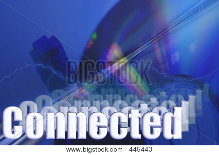 Connected 3d Network Illustration
