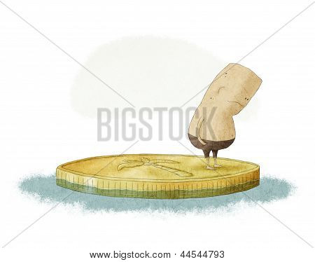 Shipwreck In A Coin