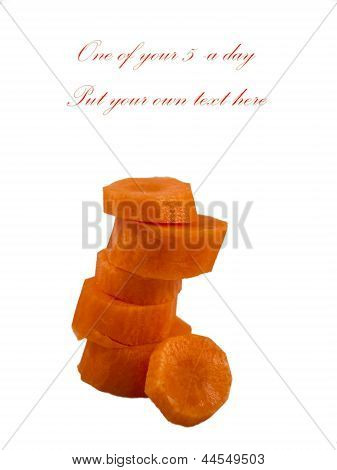 Stack Of Chopped Carrots