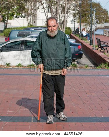 Handicapped Homeless Man