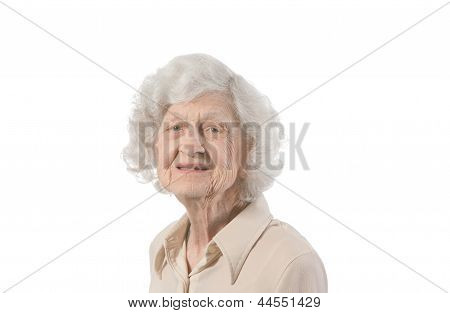 Happy Elderly Lady