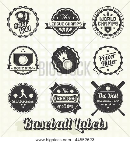 Quality Baseball Champion Labels